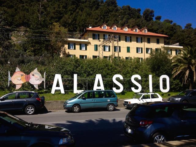город Алассио, Лигурия, Италия