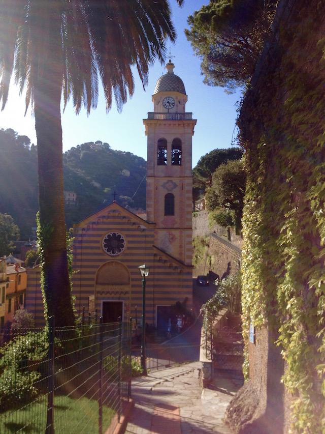 церковь в Портофино, Лигурия, Италия