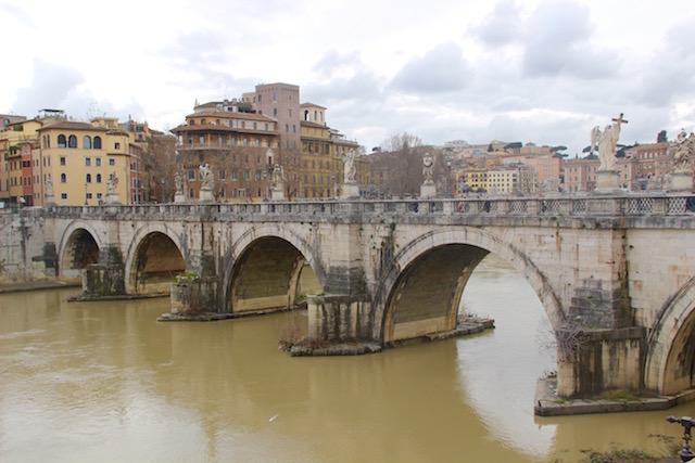 Рим за 3 дня, что посмотреть в Риме, Рим маршруты прогулок, что посмотреть в Риме, мост Ангелов