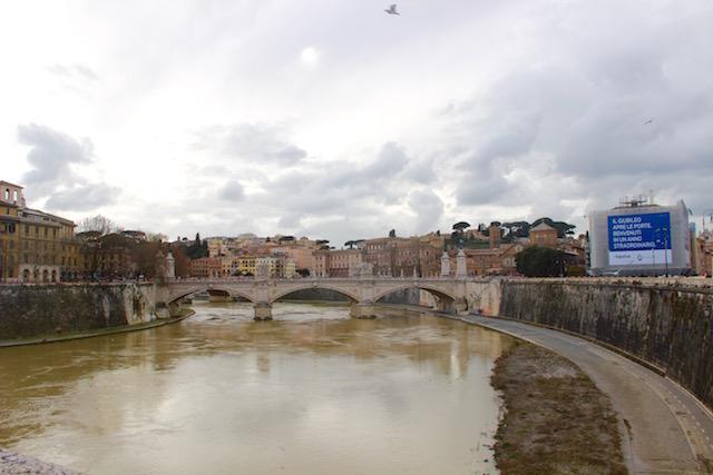 Рим за 3 дня, что посмотреть в Риме, Рим маршруты прогулок, что посмотреть в Риме, Тибр, мост ангелов рим