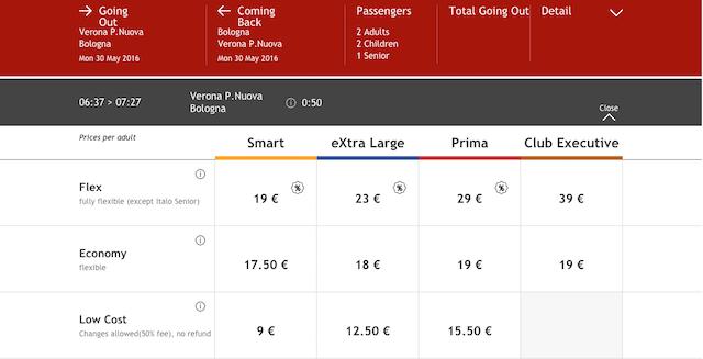 купить билет на поезд в италии