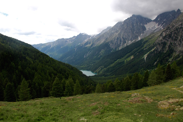 Озеро Антерсельва. Вид с перевала Сталле