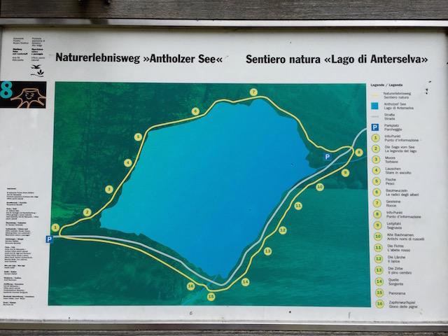 Озеро Антерсельва. Маршрут прогулки вокруг озера