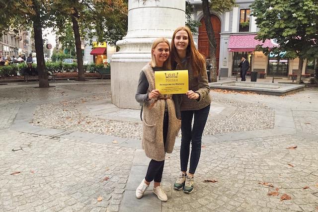 на фото я и создатель проекта Милан 15.15 Алина Карини после экскурсии по Милану