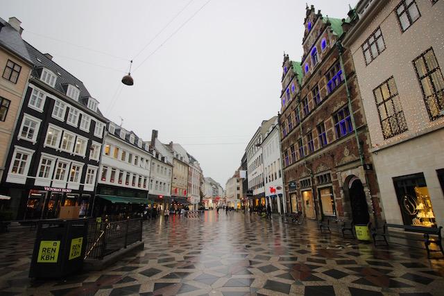 Улица магазинов в Копенгагене