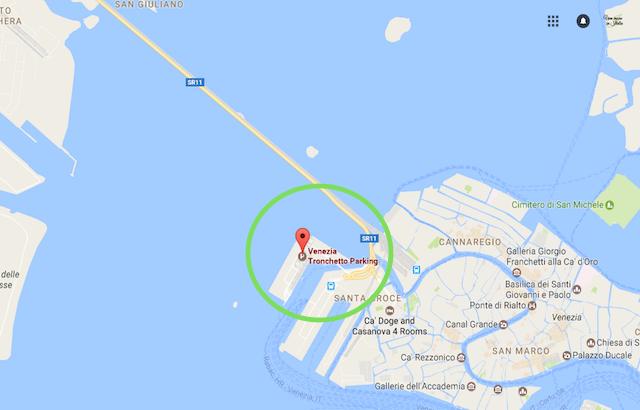 на фото карта парковки в центре венеции