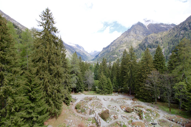 Вид на горы в Валле д Аоста