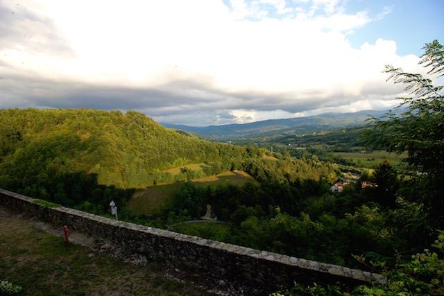 Вид с замка в Компьяно