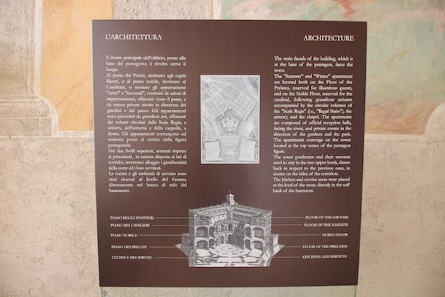 Схема палаццо Фарнезе в Капрарола