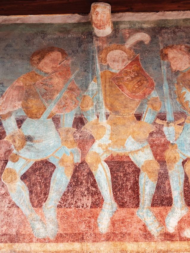 Фреска в замке Ронколо в Больцано
