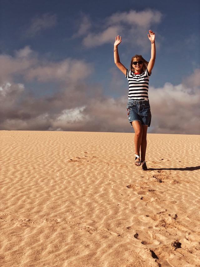 Дюны в Корралехо на острове Фуэртевентура