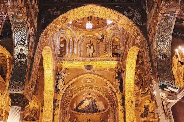 Палатинская капелла в королевском дворце Палермо