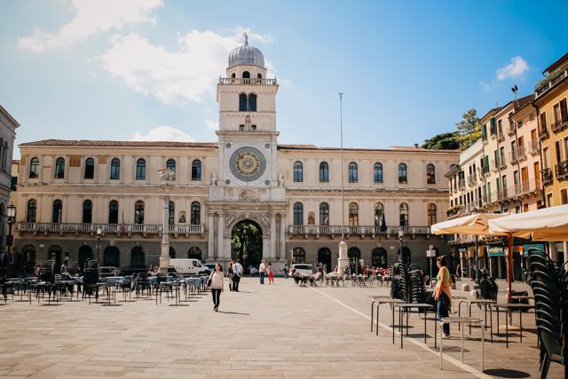 Площадь Синьории в Падуе, Италия