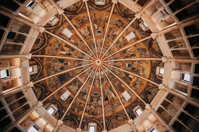 Потолочные фрески баптистерия в Парме