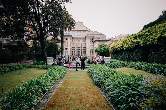 Секретный сад дворца Николосио Ломеллино на улице Гарибалди в Генуе