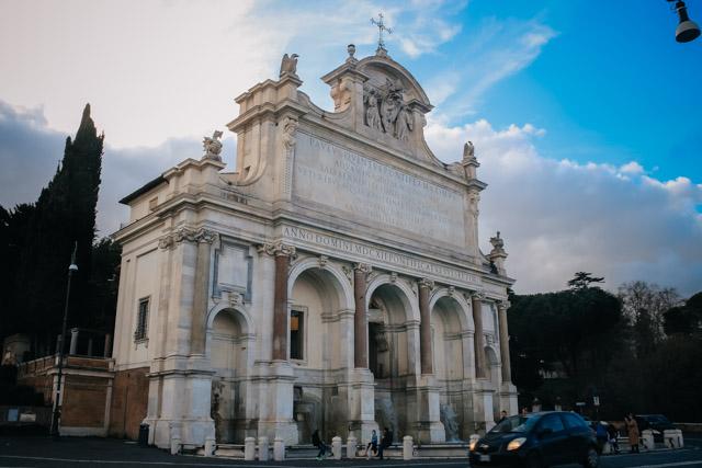 Фонтан на Джаниколо в Риме