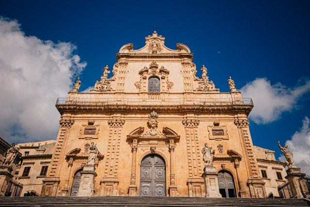 город Модина на острове Сицилия на юге Италии
