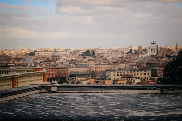 Вид с Джаниколо в Риме