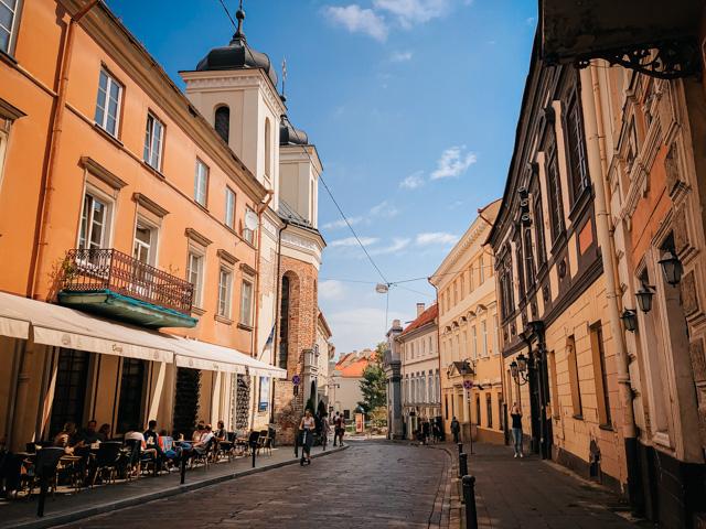 улочка в центре Вильнюса