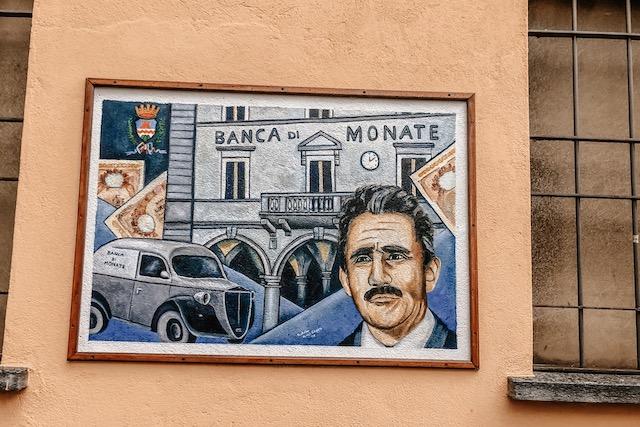 район Орта Сан Джулио Легро с фресками на домах