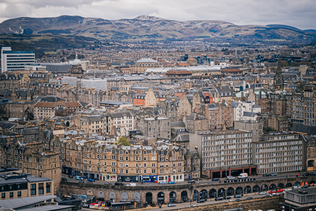 Вид на центр Эдинбурга с Карлтон Хилла