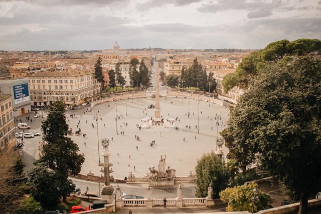 Вид на Рим