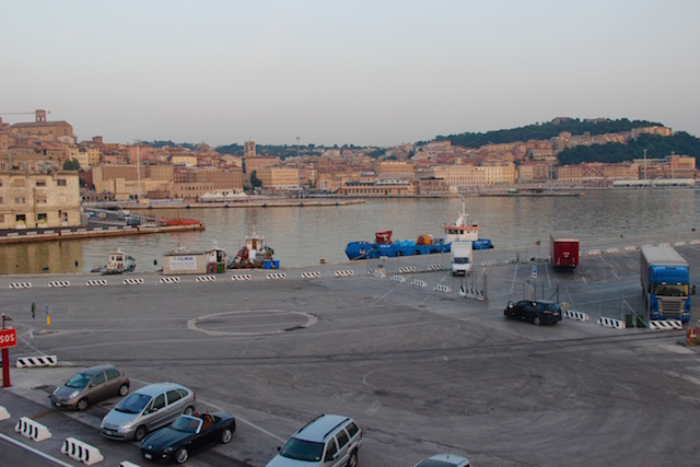 Анкона, фотография порта на закате