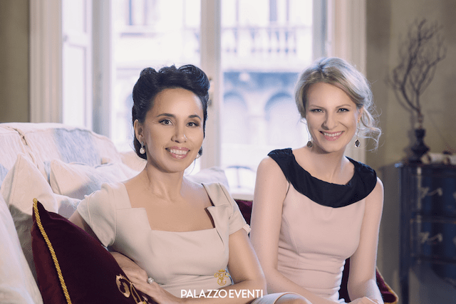 на фото Создатели PalazzoEventi Элеонора Зиганшина и Виктория Курсова
