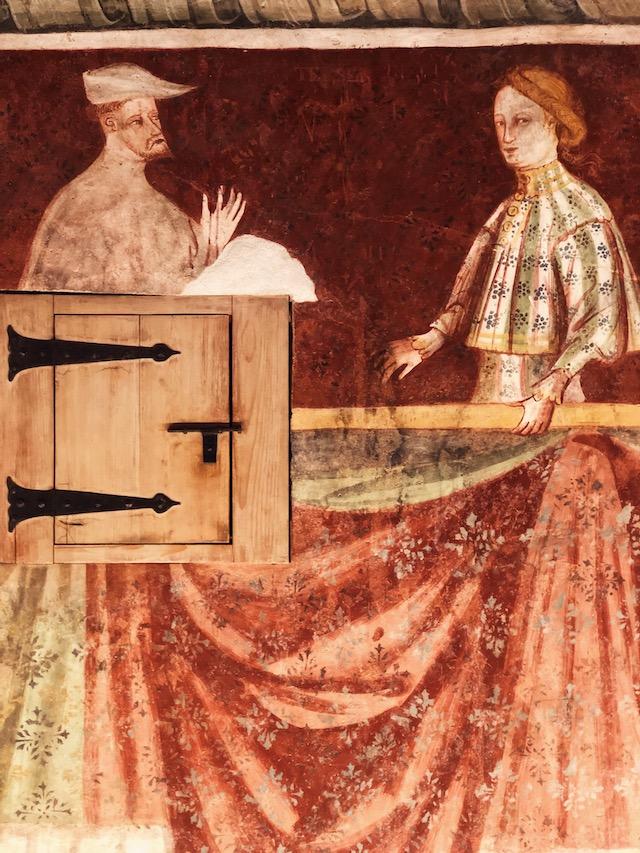 Одна из комнат с фресками в замке Ронколо Что посмотреть в Больцано: Замок Ронколо Что посмотреть в Больцано: Замок Ронколо dostoprimeciatelnosti bolzano
