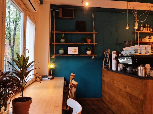 Кофейня в центре Амстердама