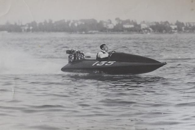 Гонки на озере Маджоре в Италии в начале XX века