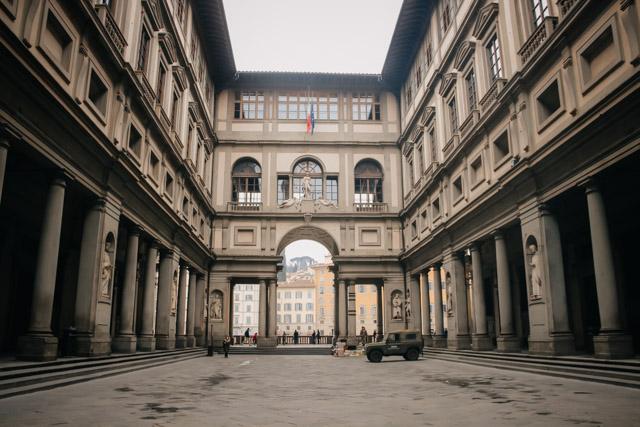 на фото Галерея Уффици во Флоренции