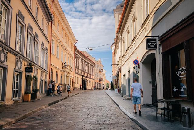 на фото одна из улиц в центре вильнюса