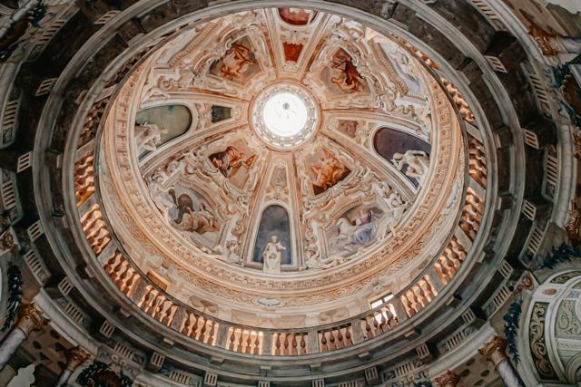 Купол с фресками виллы Ротонда Андреа Палладио в Виченце